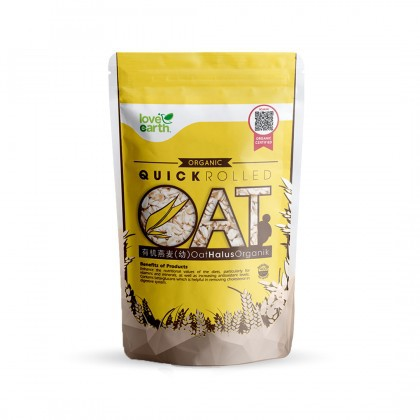 Love Earth Organic Quick Rolled Oat 400g 乐儿有机燕麦(细) 400公克 (袋装)