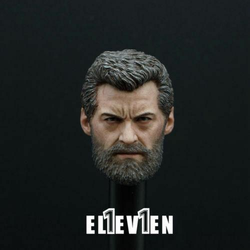 1//6 Scale Wolverine Logan Hugh Jackman Head Sculpt Model Toys F 12/'/' Figure Body