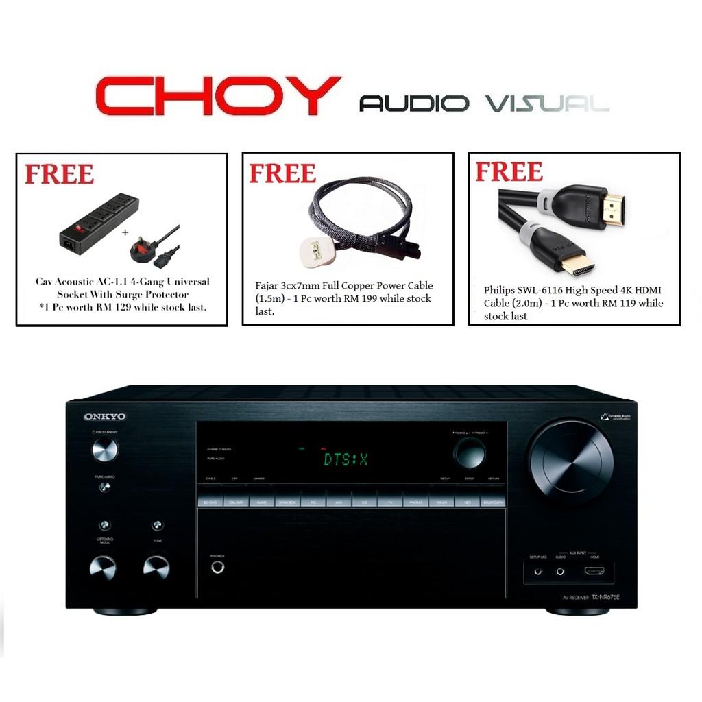 Onkyo TX-NR676E 7 2CH Network AV Receiver + FREE GIFT (THREE FREE GIFT)