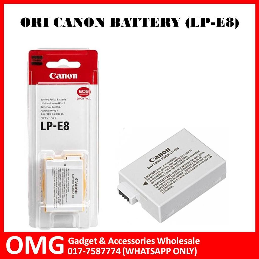 Original Canon Battery Lp E8 Shopee Malaysia Lithium