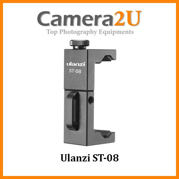 READY STOCK Ulanzi ST-08 Wireless Mic Phone Holder For Rode Wireless Go With Cold Shoe Phone Clip