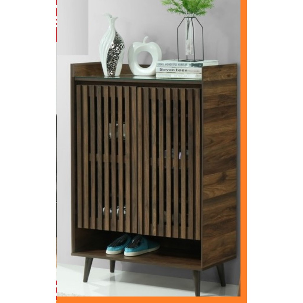 2.6ft SHOE CABINET,  PU LAMINATION WITH GLASS TOP, IMPORTED 2021 DESIGNER SERIES