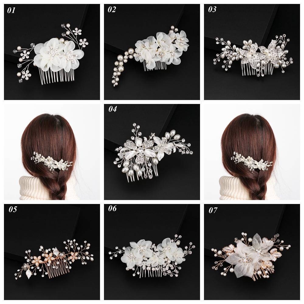 hair accessories party wedding flower tiara bridal hair comb