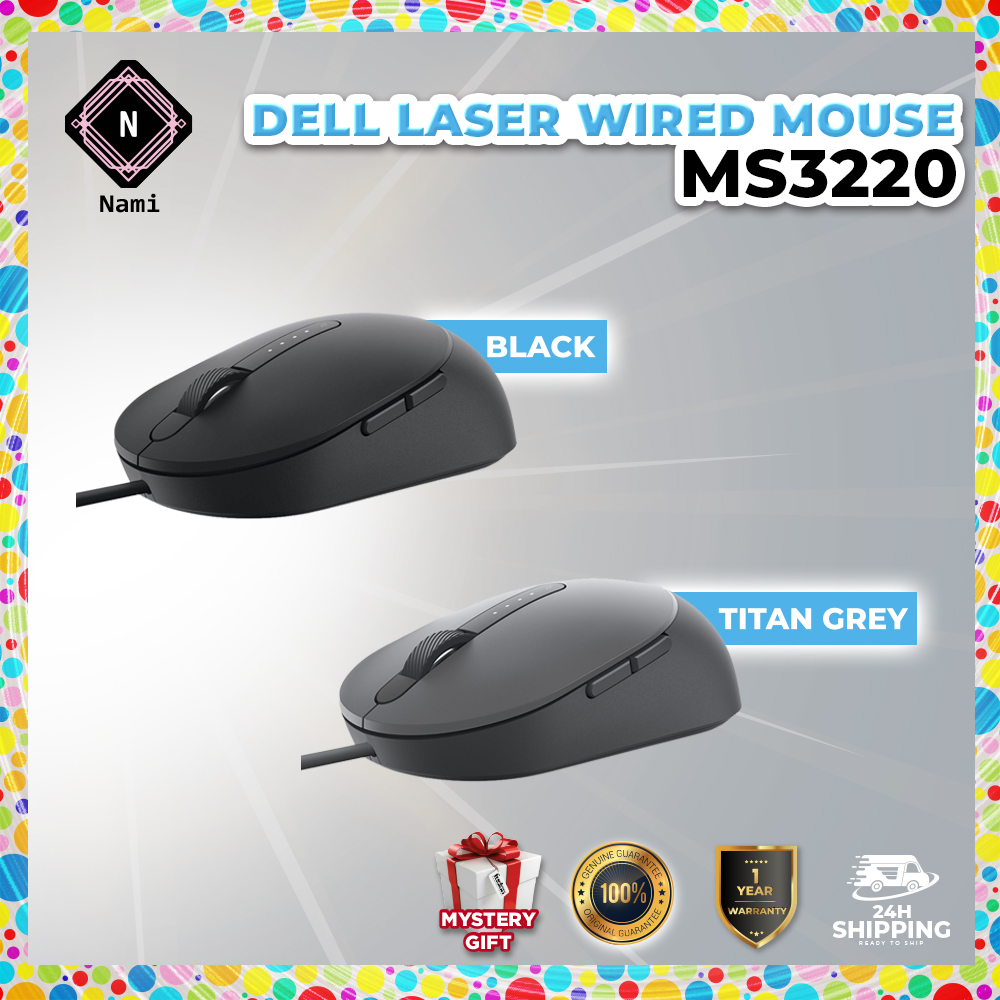 Dell Laser Wired Mouse MS3220 | Shopee Malaysia
