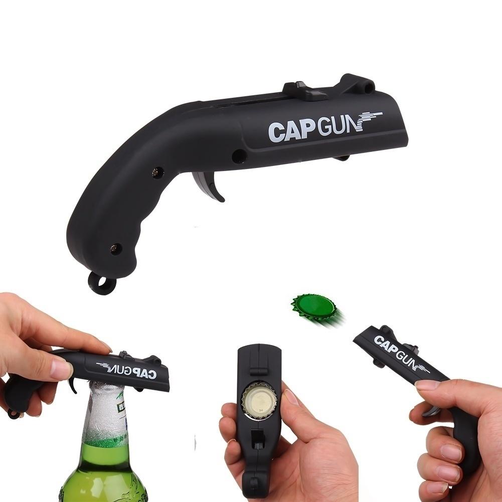 Creative Cap Gun Launcher Shooter Bottle Opener,Beer Openers - Shoots Over  5 Meters (4 Colors)