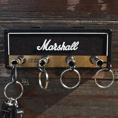 4 Plug Keychains Jack Rack Rockstar Keys Hanger Marshall Guitar Amp Key Holder
