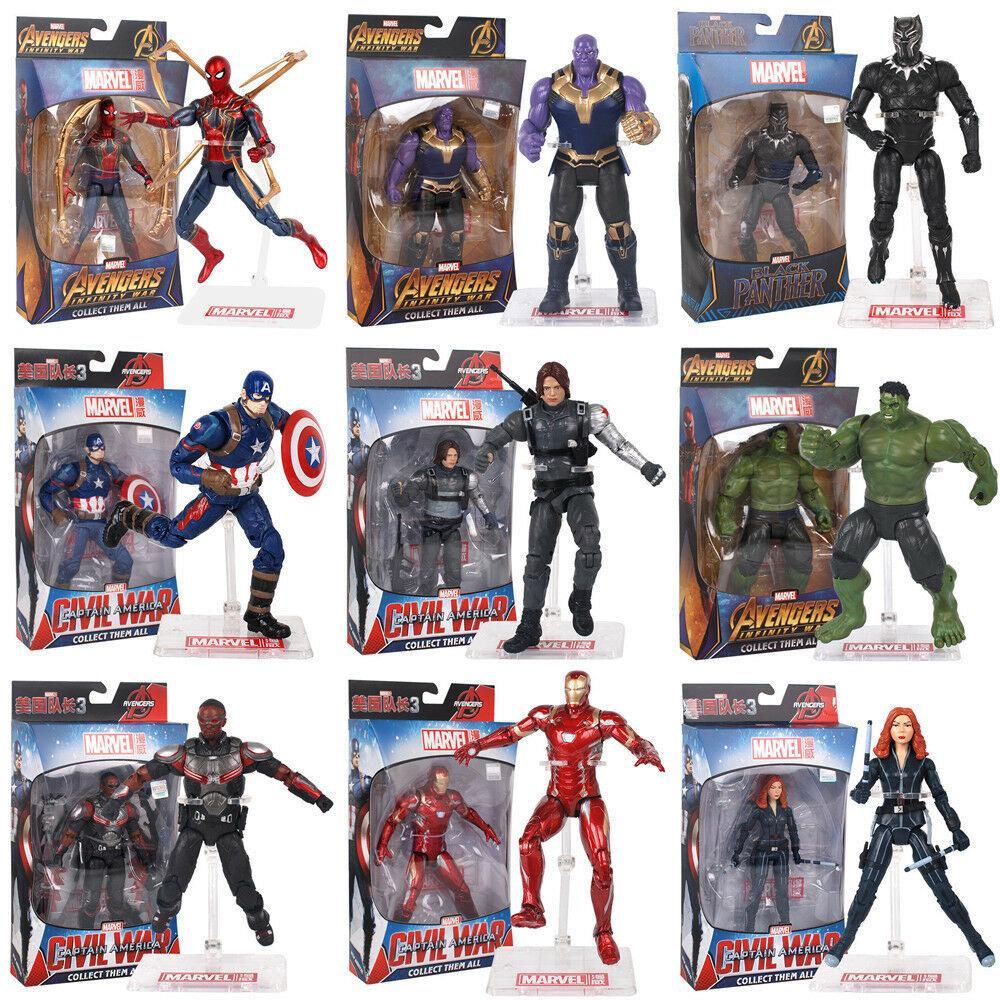 7/'/'Action Figure Marvel Legends Avengers Captain America Spider Man with BOX