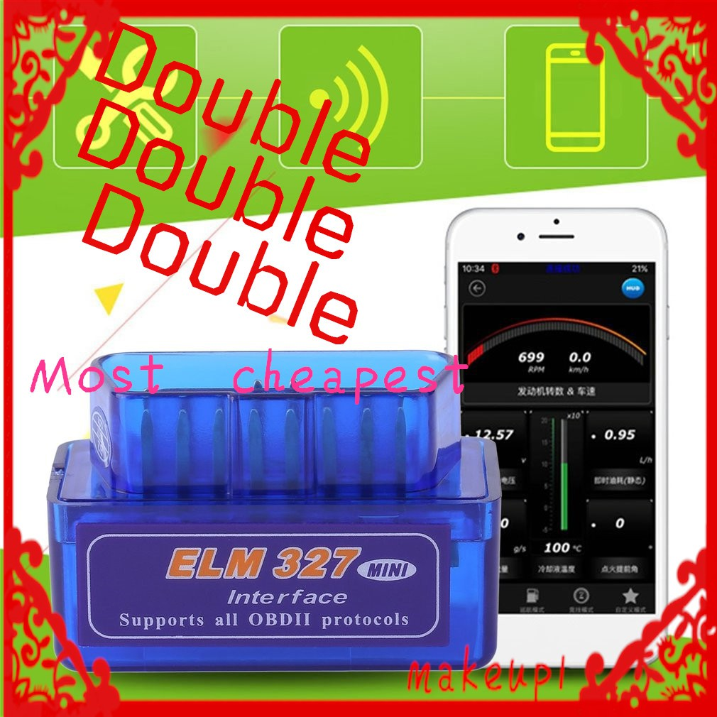 2Pcs Car Scanner Bluetooth ELM327 Auto OBD2 Diagnostic Torque V2 1 Android