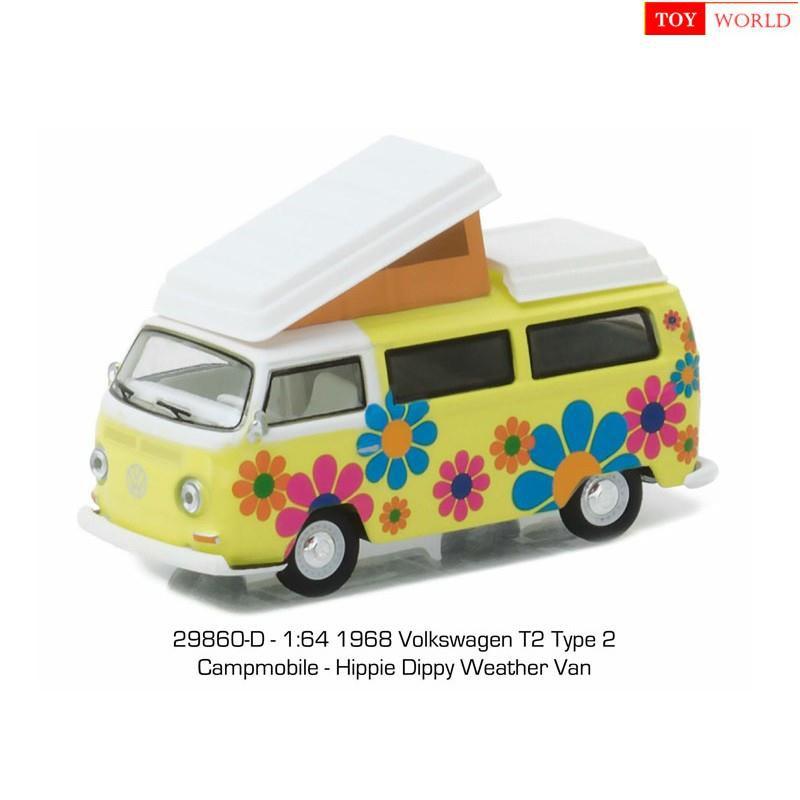 Toy|World GreenLight 1:64 1968 Volkswagen T2 Type 2 - Hippie Van