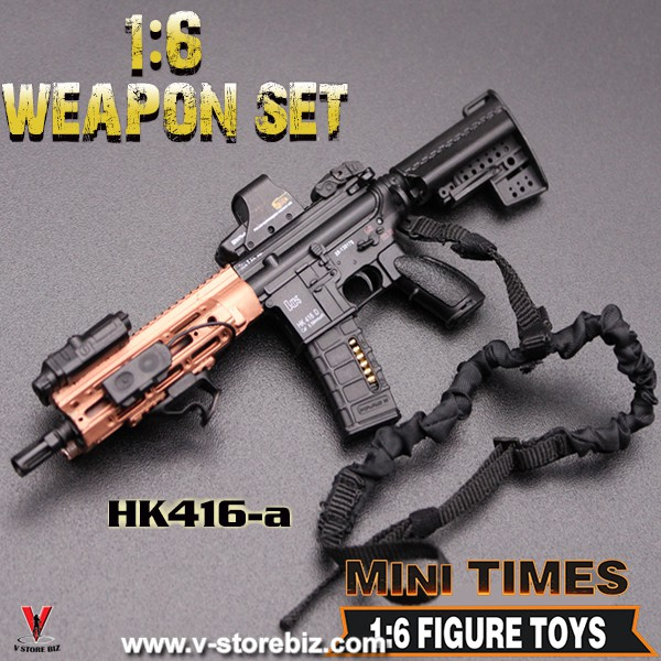 1 6 Scale Minitimes Hk416 A Rifle For 12 Action Figure Pubg Guns Model Toy Shopee Malaysia