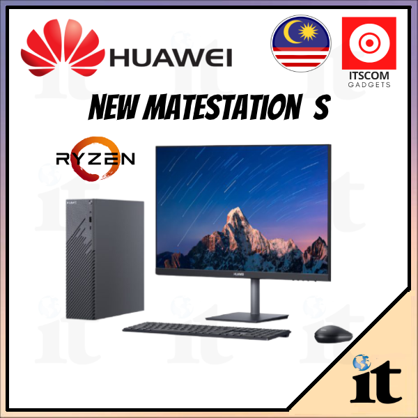 HUAWEI MateStation S and HUAWEI PC Monitor Display 23.8 AD80 - 100% Original Huawei Malaysia