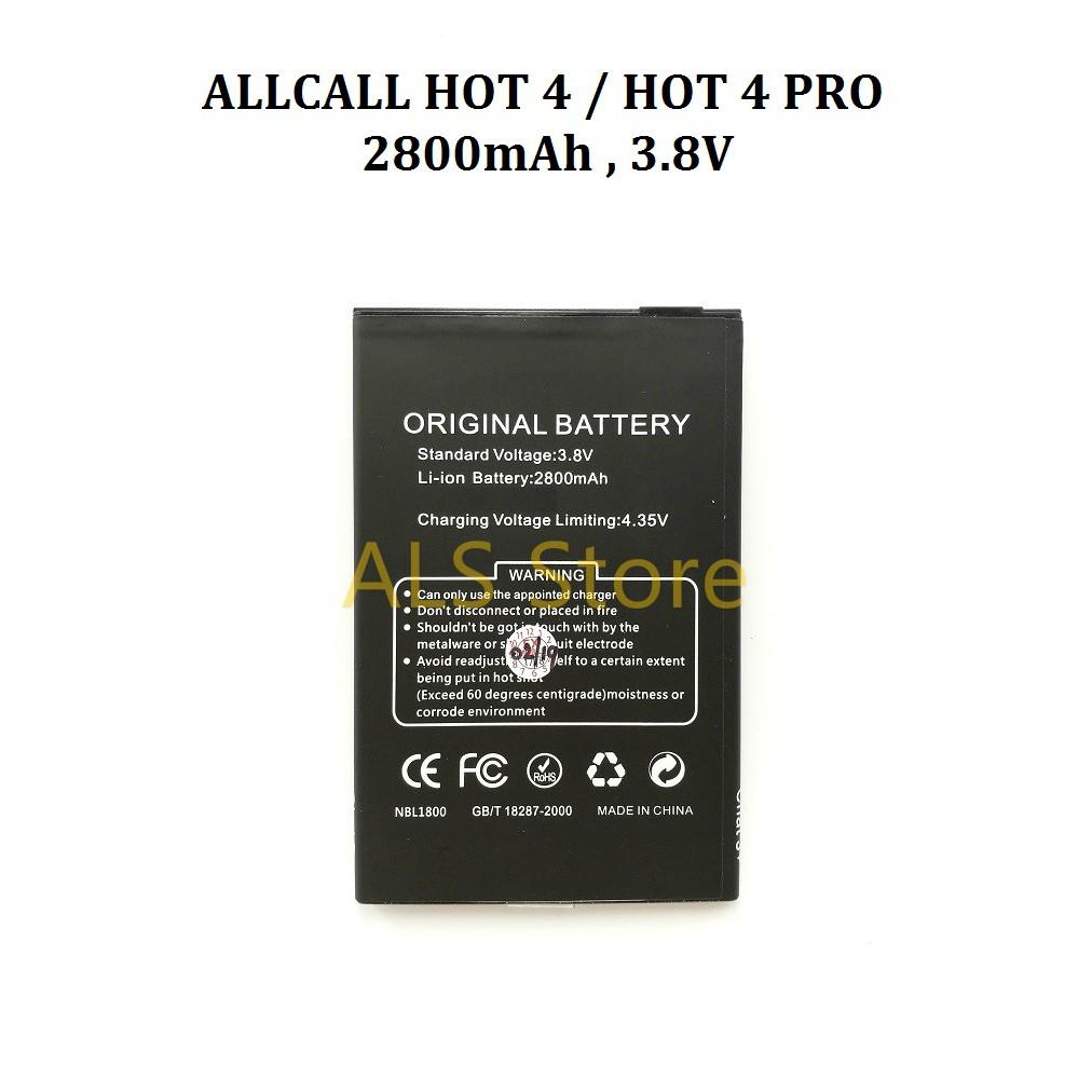 [ORIGINAL] Battery ALLCALL HOT 4 / HOT 4 PRO - 2800mAh