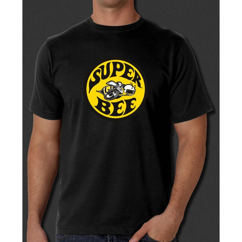 Round Dodge Super Bee Logo 100/% Cotton Men/'s Graphic T-Shirt