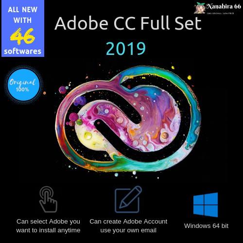 Adobe CC 2019 Full Set for PC 32/64 Bit LIFETIME | INSTRUCTION + INSTALLER