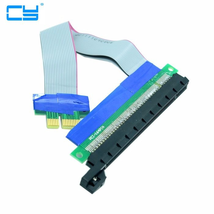 PCI Express x 16 Extender Riser Card Flexible Cable PC Extension Port Adapter