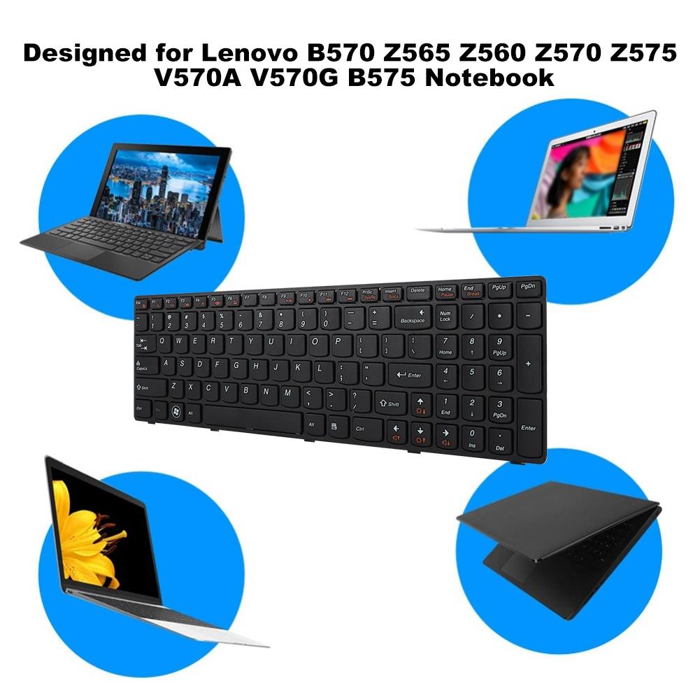 Laptop Keyboard Z560 B570 Black Replacement B575 Z575 Lenovo for Z565 Z570  V570A