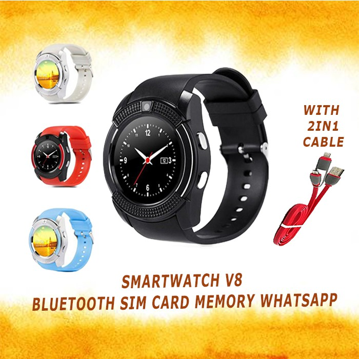 YEAR END CLEARANCE - V8 Bluetooth Smart Watch Android&IOS