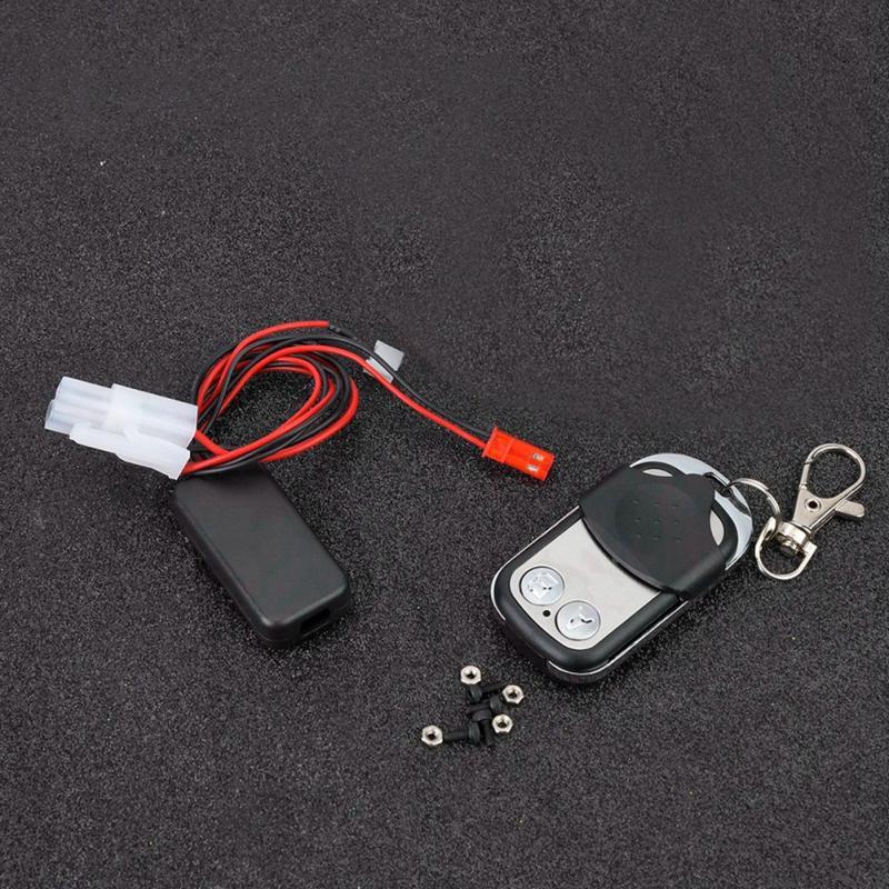 ATV Winch Accessories Winch Remote Control Controller Kit Fit for 1:10 TRX4 KM2 RC Crawler Accessory