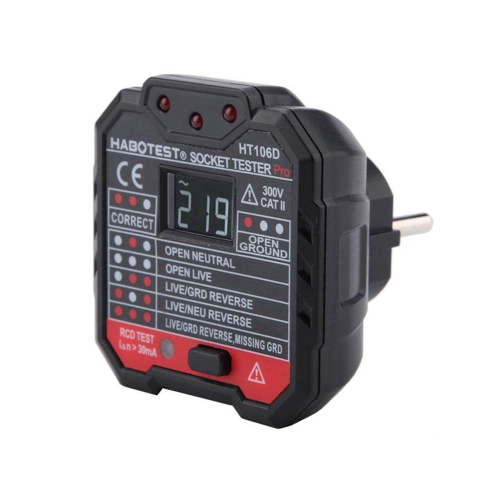 HT106B Advanced Electric Socket Tester GFCI Test Mains Fault Checker Part Kit