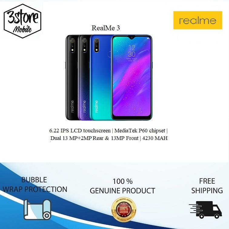 Original Set Realme 3 [3GB RAM + 32GB ROM]