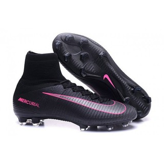 ff78c01a0 Nike Mercurial Superfly V FG Firm Ground Mens Soccer Cleats - Black Pink  Blast
