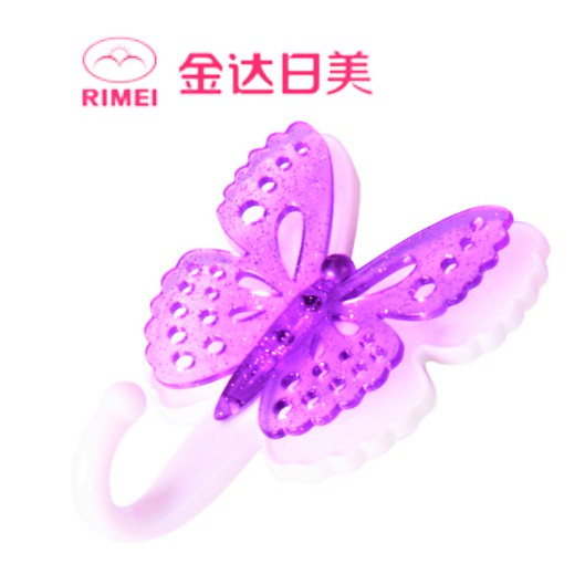 RIMEI Strong Adhesive Hook Bathroom Kitchen Hook Plastic Butterfly Design Hook 2648