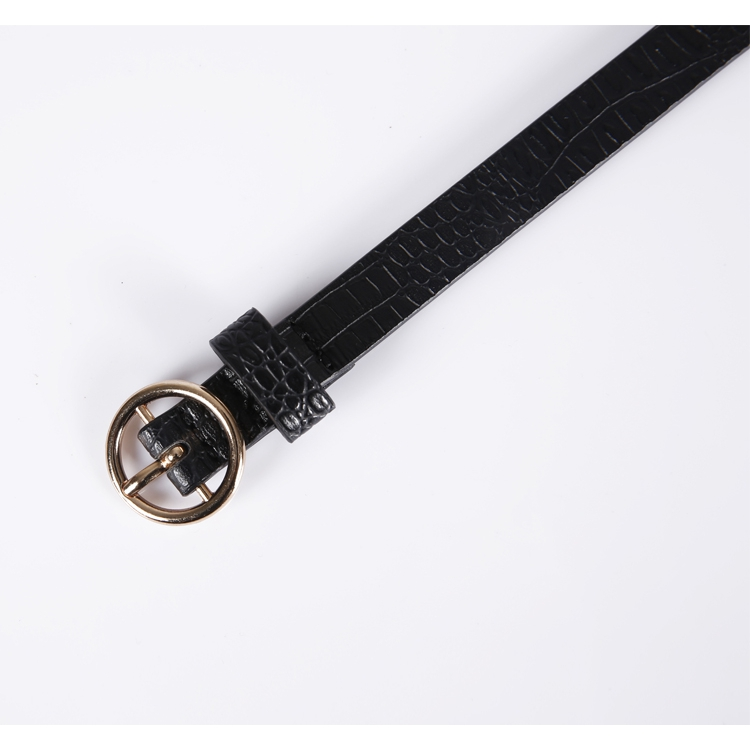 DENGDAI Casual Wild Mens Leather Woven Belt Fashion Male pin Buckle Belt