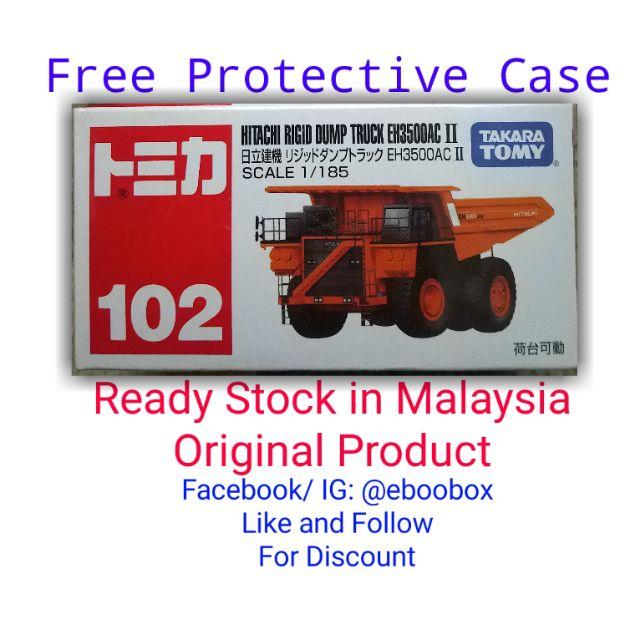 Tomica No. 102 Hitachi Rigid Dump Truck EH3500AC II Takara Tomy Tomika | Shopee Malaysia