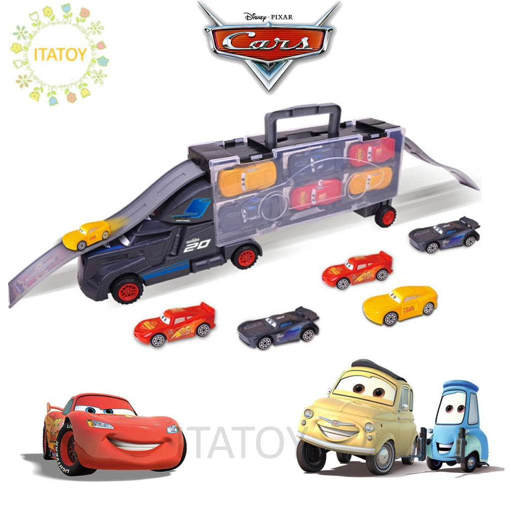 2fbc7727e94e 6 in 1 Disney Pixar Cars Cabinet Truck Transport