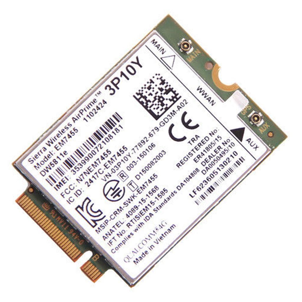 Dell Sierra EM7455 DW5811e 4G LTE Module Snapdragon X7 WWAN