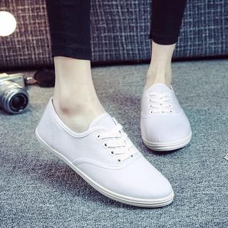05ef7d050 women canvas shoes breathable fashion brand women flat shoes woman white  shoes | Shopee Malaysia