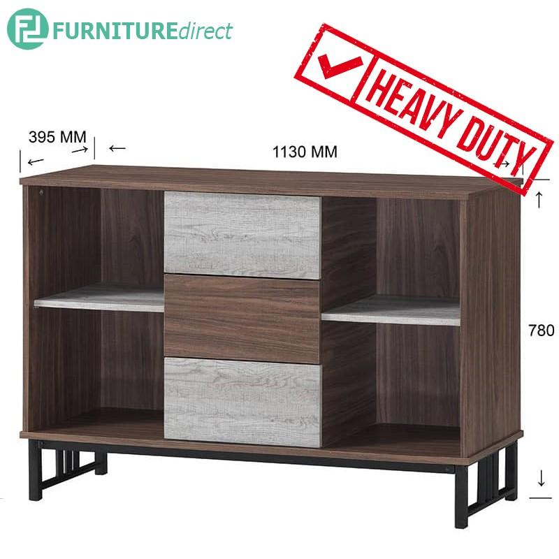 VERA heavy duty metal frame open shelf sideboard/ wine cabinet/ kitchen cabinet