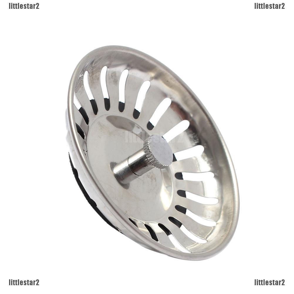 Sink Plug Stainless Steel Basket Strainer Waste Drain Stopper Home Kitche·New