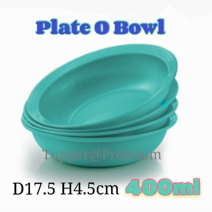 (PREORDER)Tupperware Plate O Bowl set 4pcs turquoise color