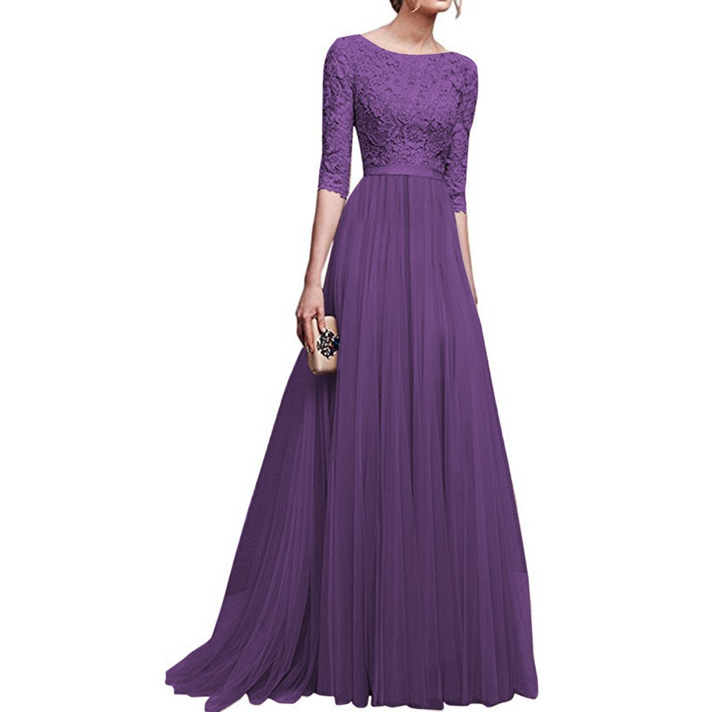 Baju Kurung Elegant Women Long Dress Dinner Party Evening Wedding ...