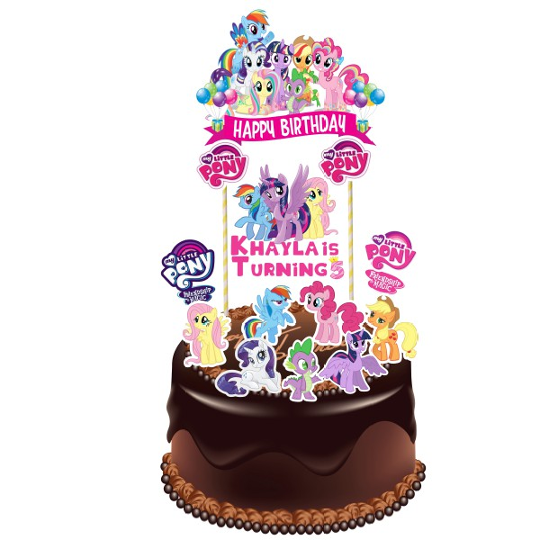 Miraculous My Little Pony Birthday Cake Topper Shopee Malaysia Personalised Birthday Cards Beptaeletsinfo