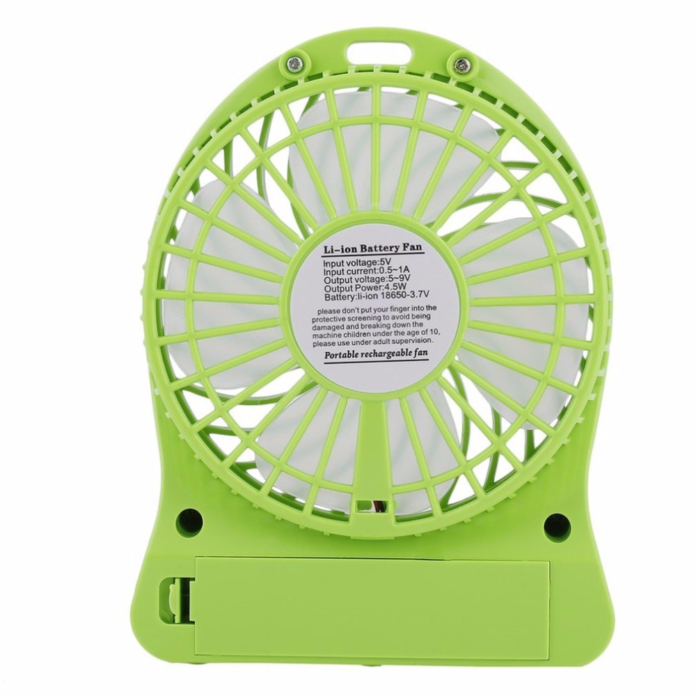 Mini LED Fan Air Cooler USB Charging FAN With LED Lighting Battery Operated  Fan