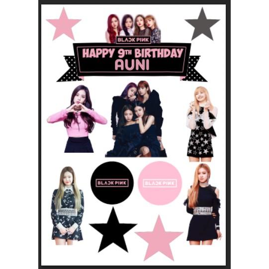 Blackpink Cake Topper 11pcs Shopee Malaysia