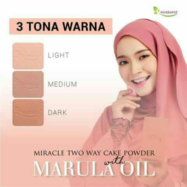 NURRAYSA MIRACLE TWO WAY CAKE POWDER