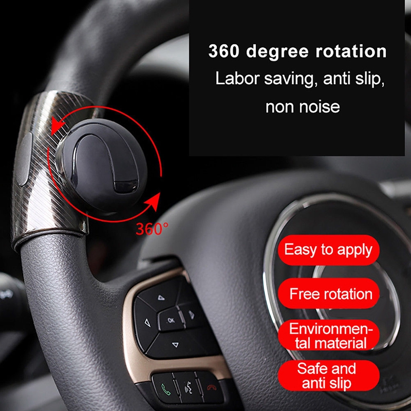 Car Auto Steering Wheel Spinner Knob Auxiliary Booster Aid Handle Knob Black High Quality Alloy Material Easy To Install Atv,rv,boat & Other Vehicle Controllers