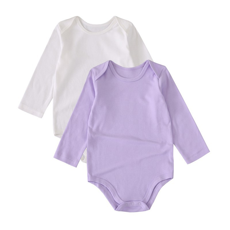 9d699f161f090 ProductImage. ProductImage. 2pcs Baby Rompers Girl and Boy Long Sleeve Cute  Summer Clothing White Purple