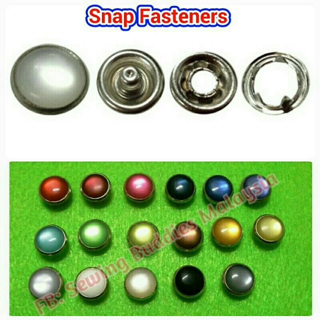 SENORITA PEARL PRONG SNAP BUTTON 12 mm (50pcs/pack)