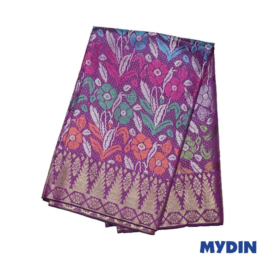 "Men Sampin - (B) Multicolor On Magenta with Tulip Designs (2.25m X 36"") 0819SRLHDD04 #Raya"