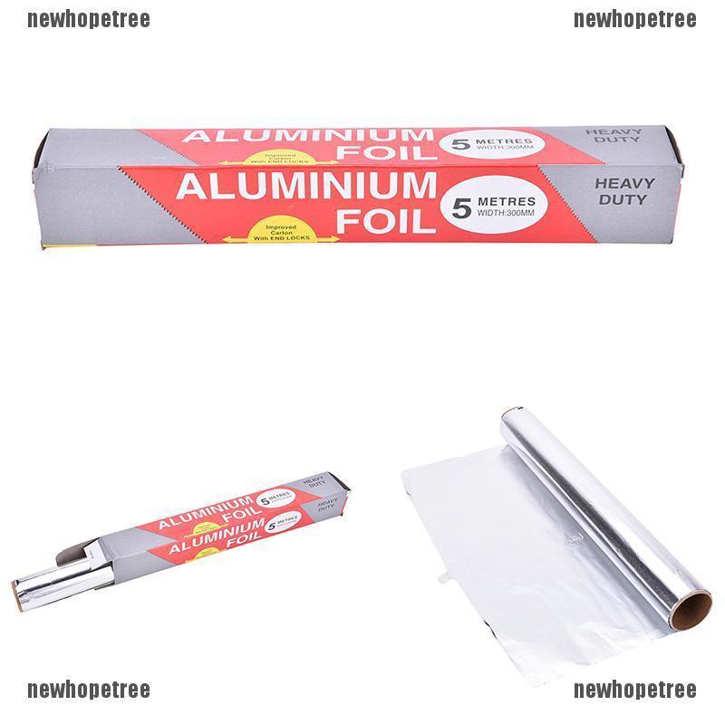 1 Pcs BBQ Foil Paper Baking Aluminum Tin Oven Grill Tinfoil Paper 5M*30CM