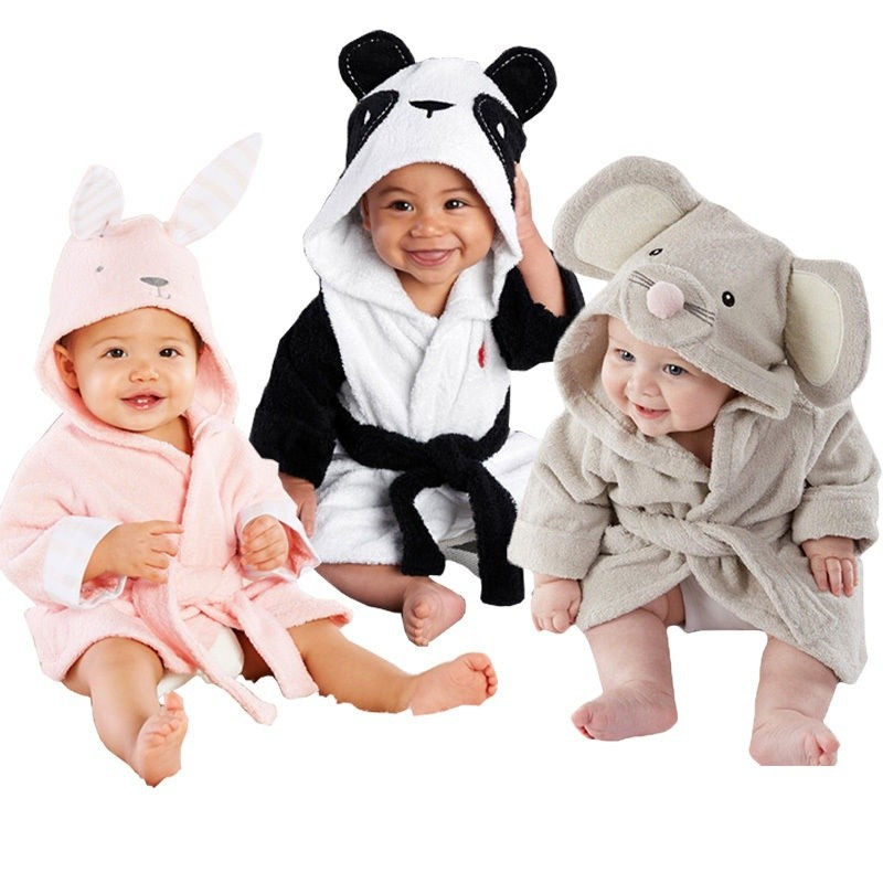 2018 children s cartoon bathrobe animal model cotton baby bath towel  Bathrope  a1d2fba7b