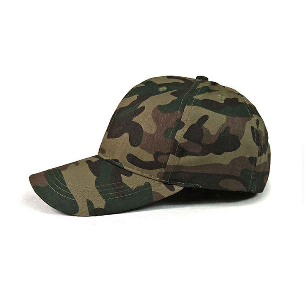 Camouflage Baseball Cap Hip Hop Hat Outdoor Leisure Hat Street Dance Cap