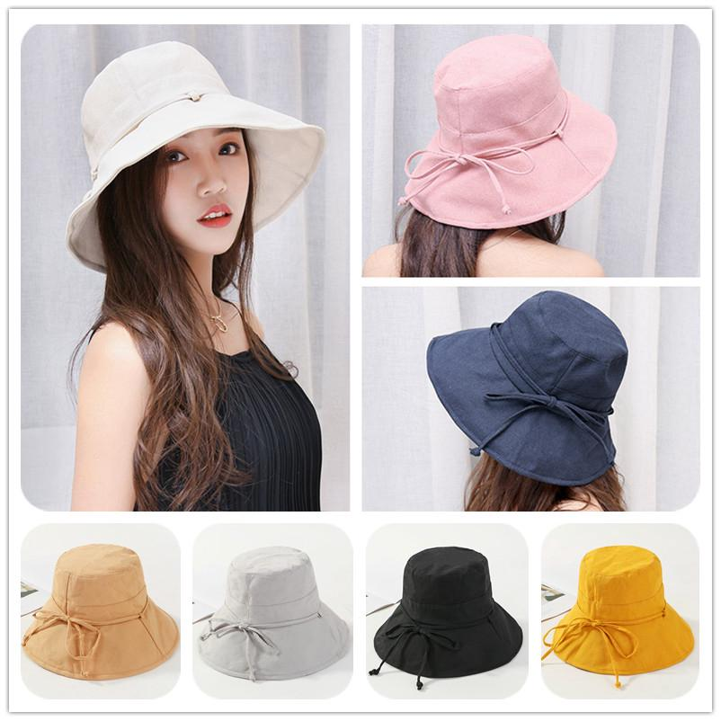 72d17df36 Women's Summer Fashion Foldable Hats Outdoor Breathable Cotton Cloth ...
