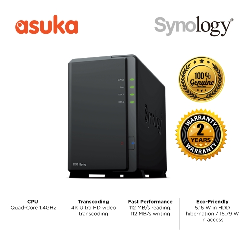 (PRE-ORDER) Synology DS218Play 2-Bay NAS Storage
