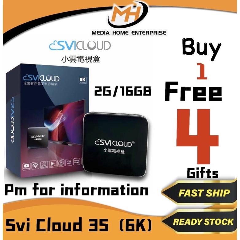 [FREE FREE FREE] [Ready Stock] Svi Cloud Tv Box 3S & 3PRO - 9 Cores CPU+GPU, 6K, 8K Picture Quality