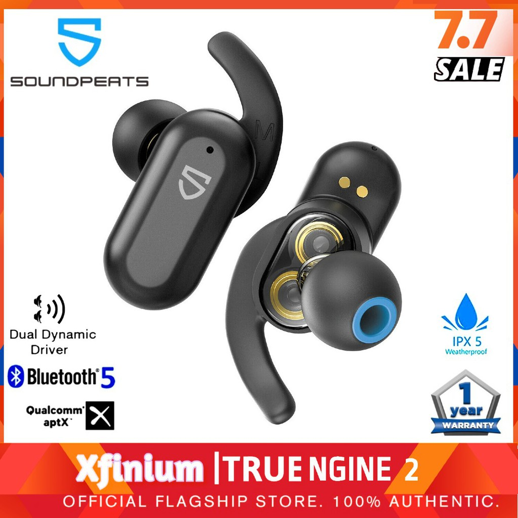 SoundPEATS TruEngine 2 Premium True Wireless Charging Earbuds